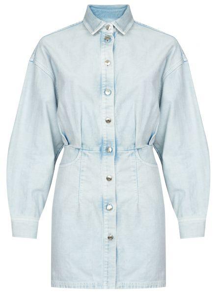Хлопковое платье - голубое Iro