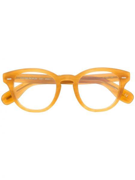 Żółty prosto oprawka do okularów okrągły Oliver Peoples