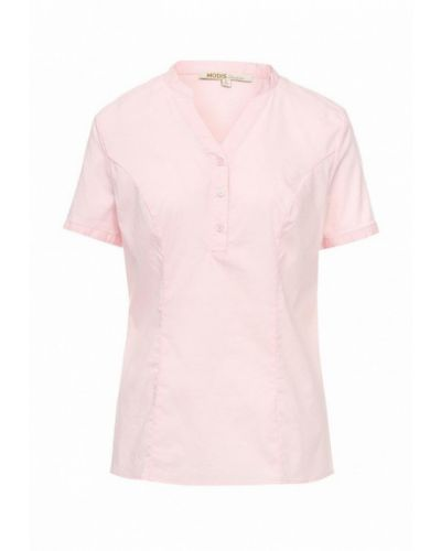 Розовая блузка с коротким рукавом Modis
