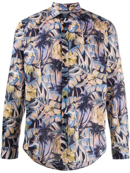Koszula z długim rękawem klasyczna karmazynowy Etro