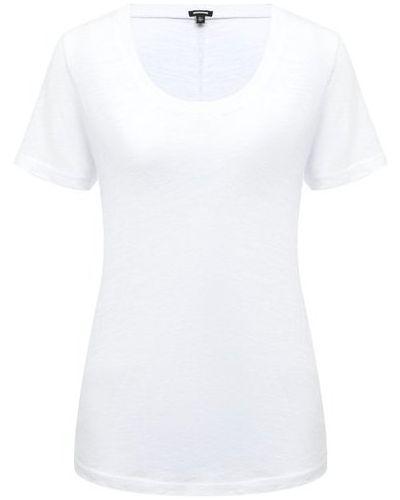 Хлопковая белая футболка Monrow