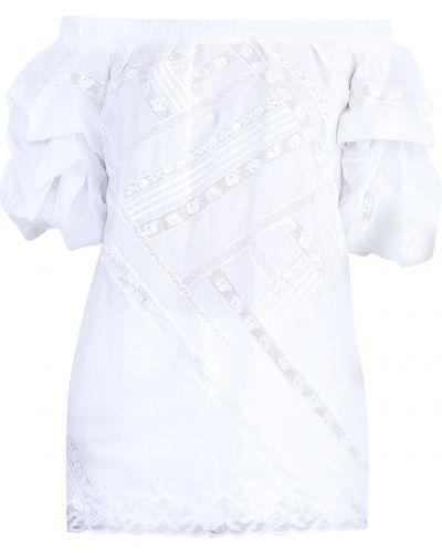 Блузка с открытыми плечами с пышными рукавами с рукавом фонарик Ermanno Scervino