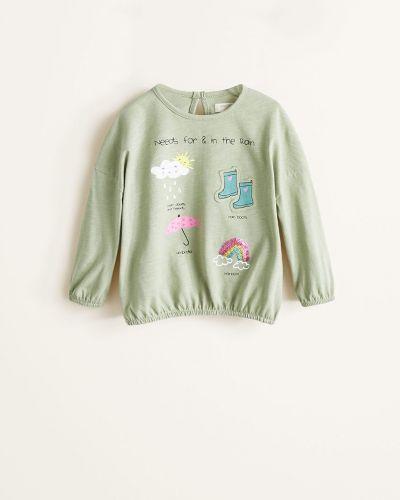 Блуза с принтом трикотажная Mango Kids