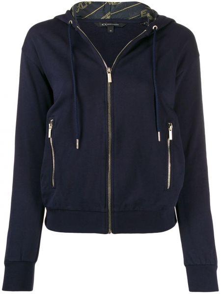 Куртка с капюшоном на молнии с карманами Armani Exchange