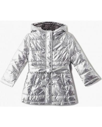 Куртка теплая серебряного цвета Sisley