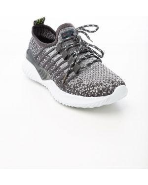 Спортивные серые текстильные кроссовки Saijun