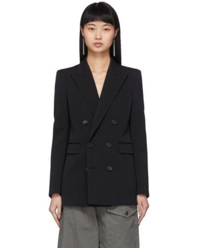 Пиджак черный в полоску Saint Laurent