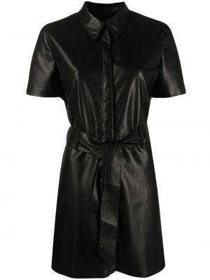 Платье с воротником - черное Nanushka