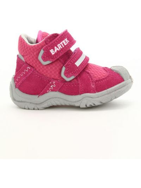 Кожаные кроссовки - розовые Bartek