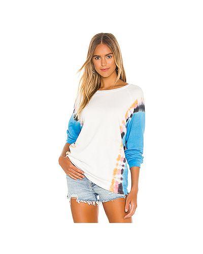 Хлопковый белый свитер Michael Lauren