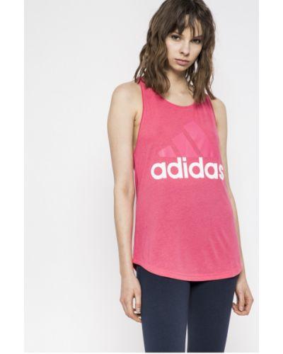 Спортивная футболка свободная розовый Adidas Performance