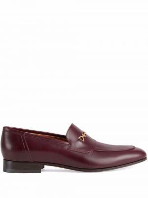Loafers - bordowe Gucci