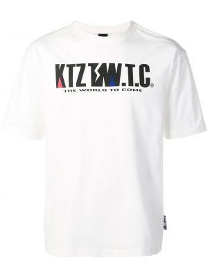 Футболка с принтом - белая Ktz