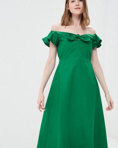 Зеленое платье весеннее Rinascimento