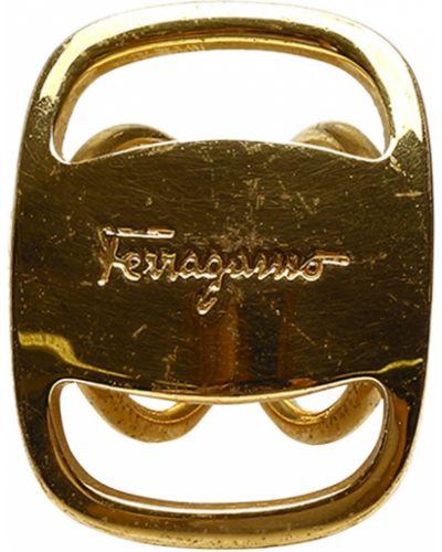Żółty szalik Salvatore Ferragamo Vintage