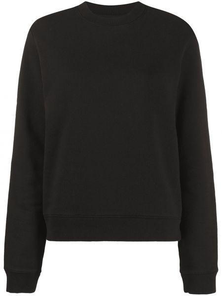 Czarna bluza z haftem z długimi rękawami Rta