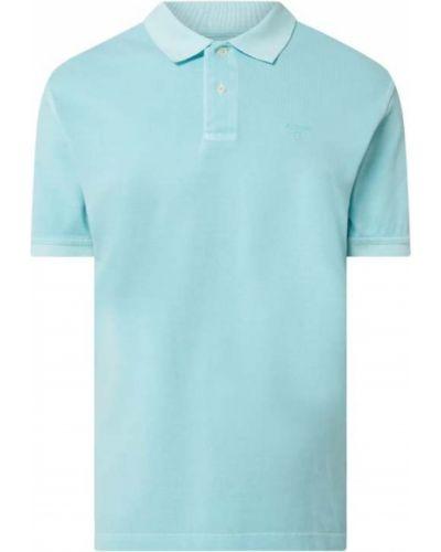 T-shirt bawełniana - turkusowa Barbour