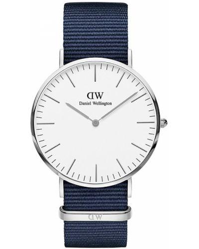 Klasyczny biały zegarek kwarcowy srebrny Daniel Wellington