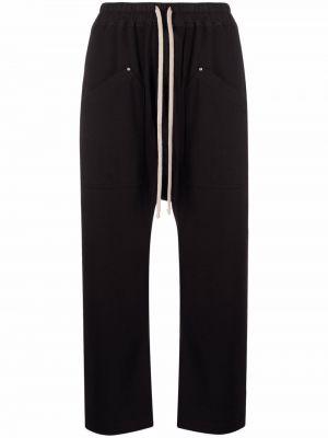 Укороченные брюки - черные Rick Owens Drkshdw