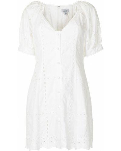 Расклешенное белое платье мини с короткими рукавами We Are Kindred