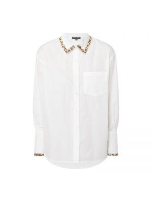 Biała bluzka w paski bawełniana Risy & Jerfs