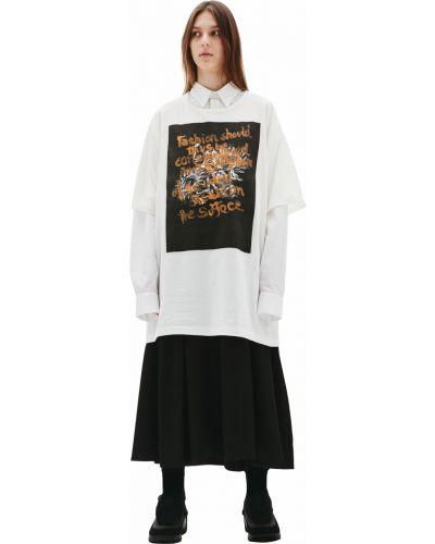 Хлопковая футболка - белая Yohji Yamamoto