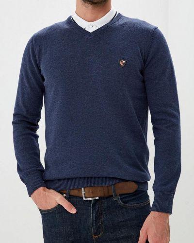 Пуловер синий желтый Jimmy Sanders