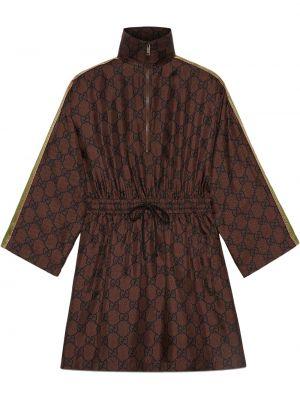 Sukienka z printem - czarna Gucci