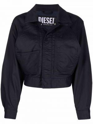 Длинная куртка - синяя Diesel