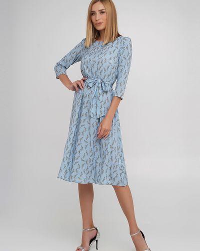 Платье с поясом - голубое Anastasimo