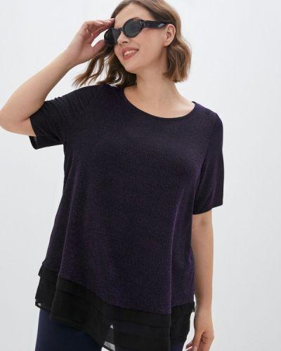 Фиолетовая блузка с короткими рукавами Evans
