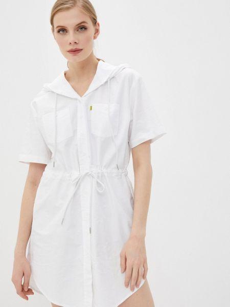 Белое спортивное платье Zasport