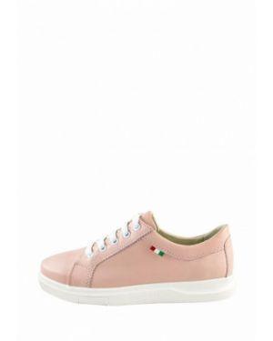 Розовые кроссовки из натуральной кожи Libero