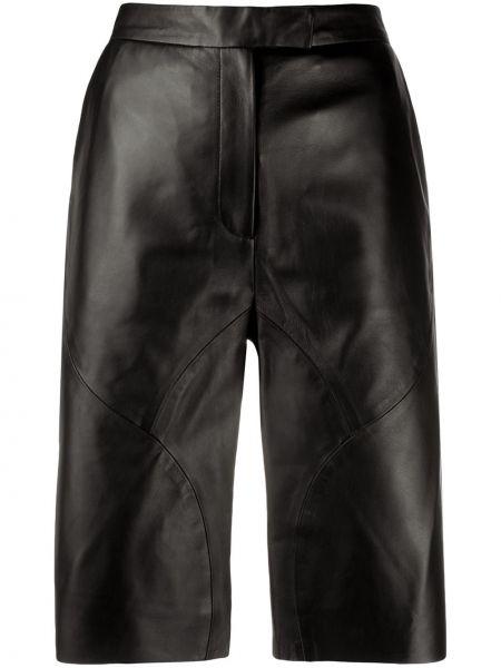 Однобортные черные шорты с карманами Frenken