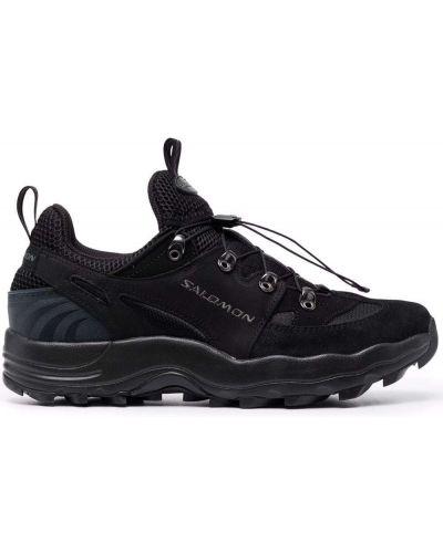 Высокие кроссовки на шнуровке - черные Salomon S/lab