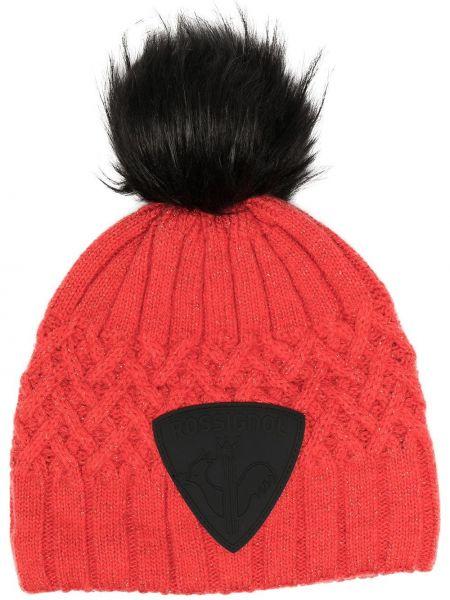 Шерстяная шапка бини - красная Rossignol