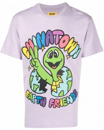 Fioletowa koszulka krótki rękaw Chinatown Market