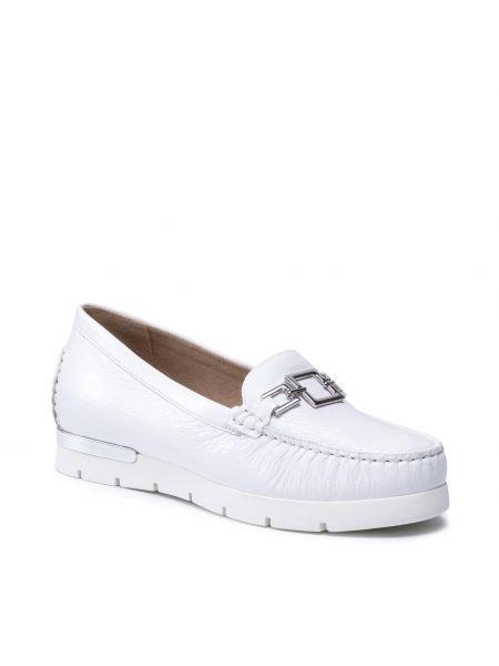 Białe półbuty Caprice