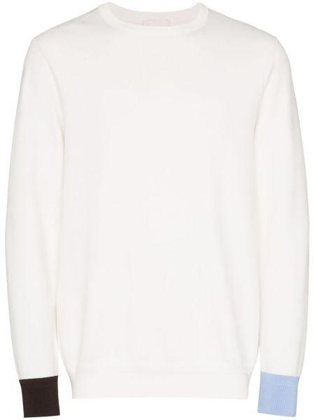 Белый свитер свободного кроя в рубчик с вырезом Lou Dalton