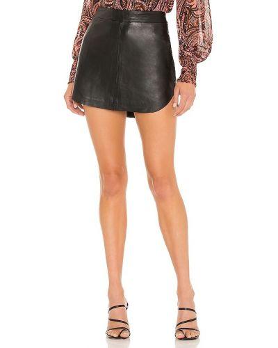 Кожаная юбка - черная Karina Grimaldi