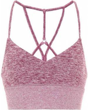 Розовый нейлоновый спортивный бюстгальтер для йоги Alo Yoga