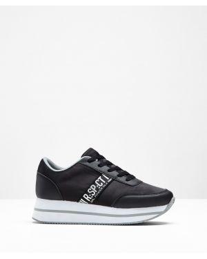 Кроссовки на платформе черные Bonprix
