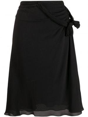 Czarna spódnica z wysokim stanem kopertowa Christian Dior