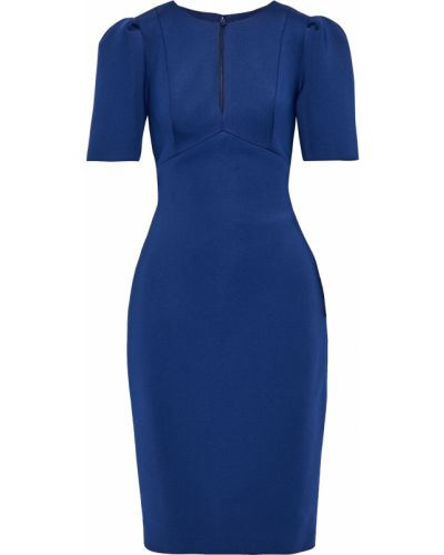 Платье с подкладкой - синее Badgley Mischka