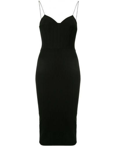 Приталенное платье миди - черное Alex Perry