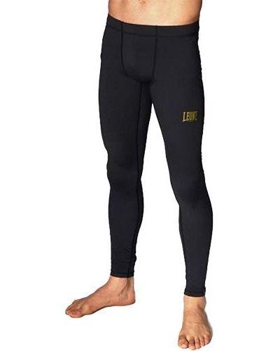 Черные спортивные брюки с поясом свободного кроя Leone