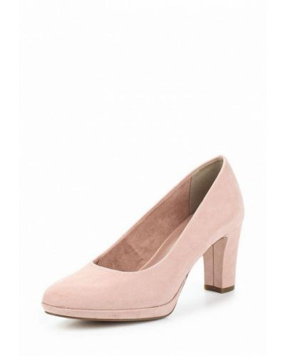Туфли на каблуке замшевые Tamaris
