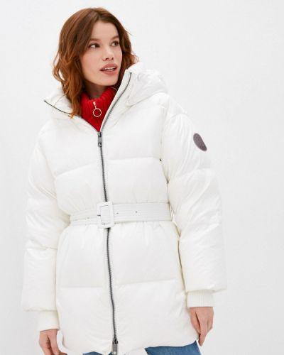 Утепленная белая куртка Tommy Hilfiger