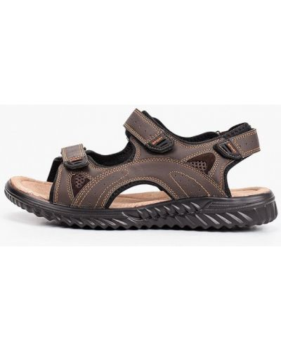 Коричневые кожаные сандалии Crosby