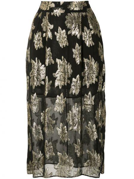 Черная юбка с люрексом Iro